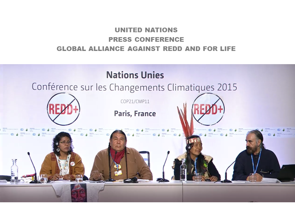 "PRESS CONFERENCE: ""REDD: Contradiction and Violation of the Sacred"""